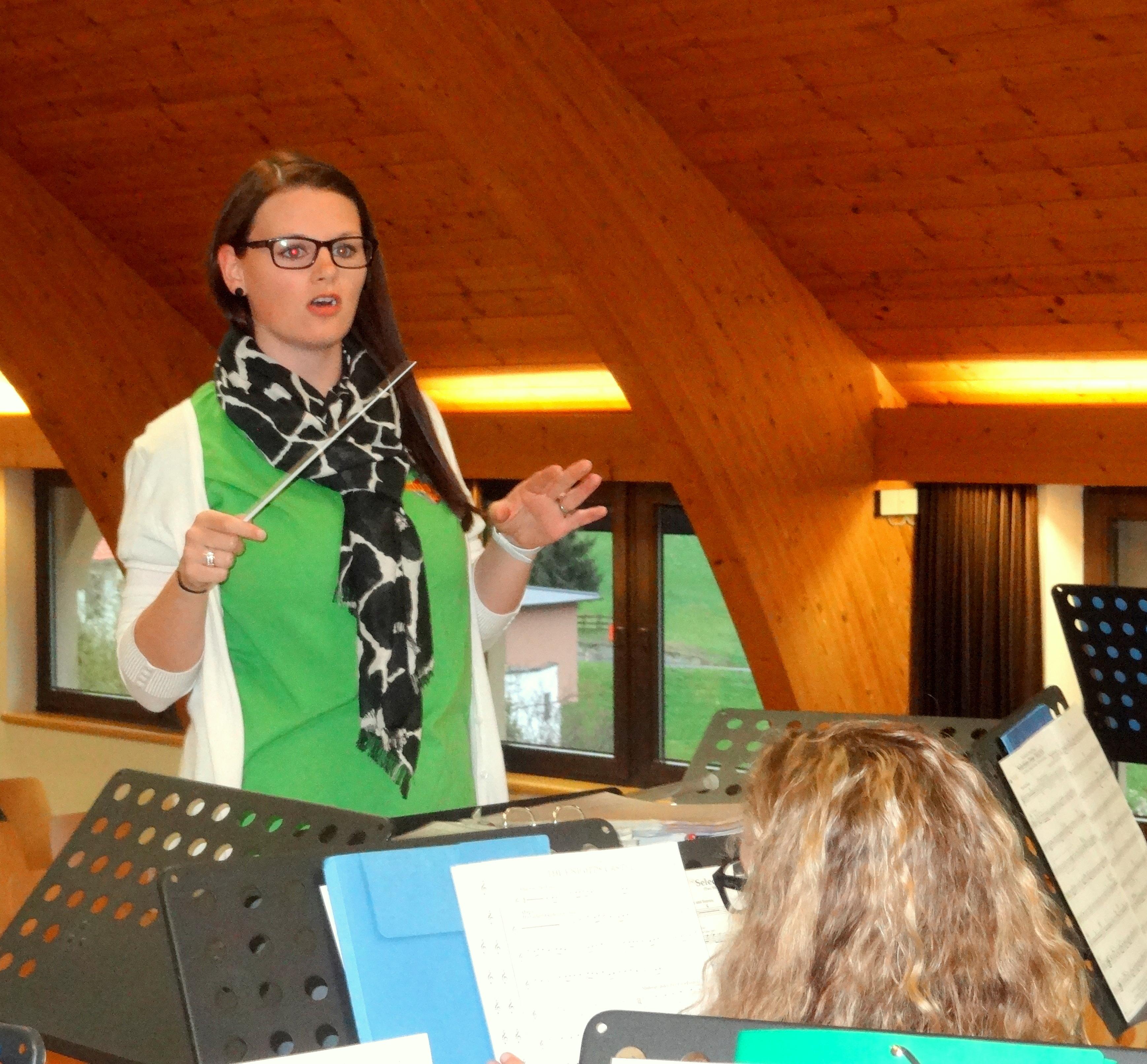 Julia Schuchter, Leiterin der Jugendkapelle, Foto: Knut Kuckel