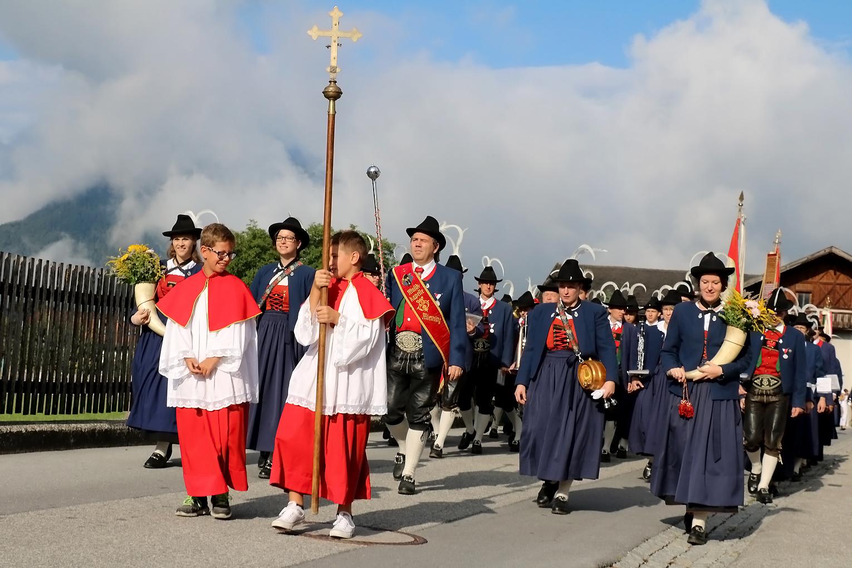 Mariä Himmelfahrt – Prozession und Frühschoppen am Gasthof Stiegl, Foto: Knut Kuckel