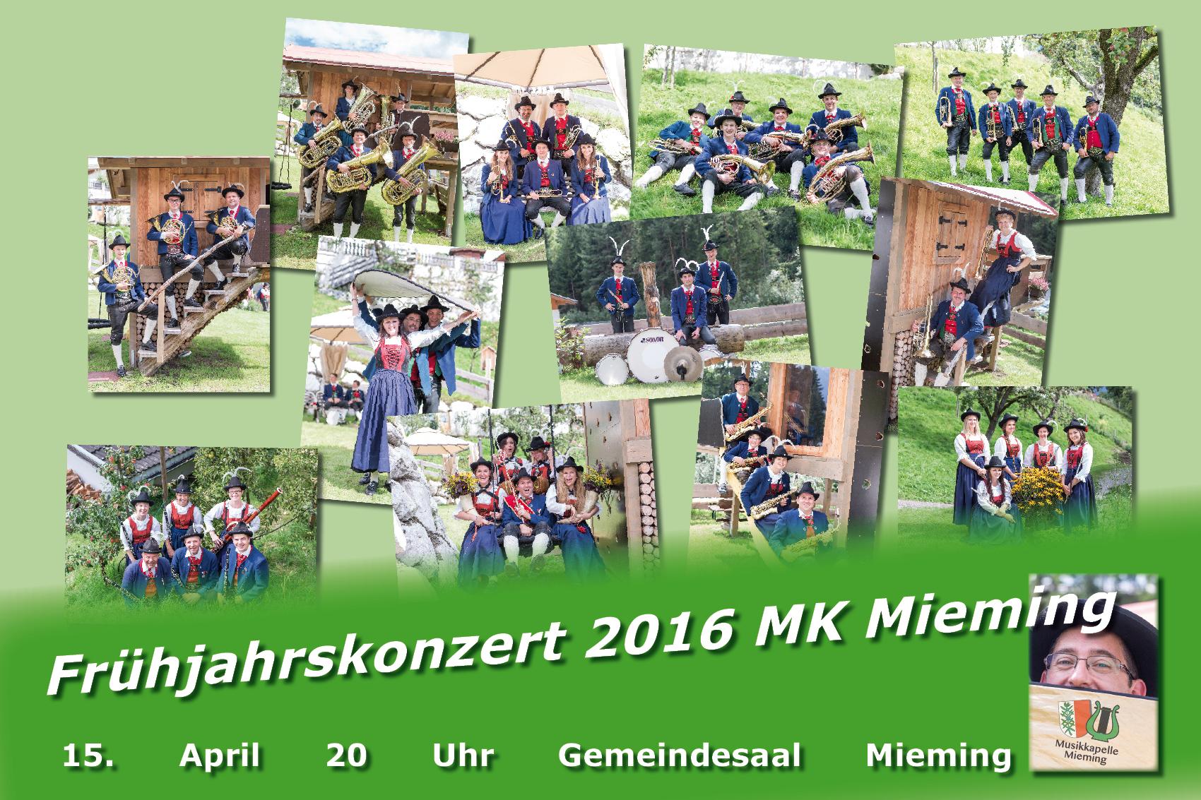 Frühjahrskonzert 2016 Musikkapelle Mieming